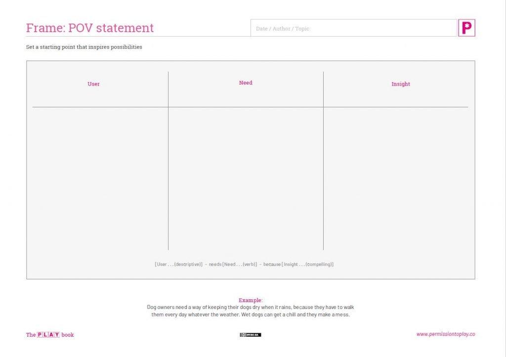POV statement worksheet