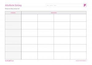 Attribute listing grid