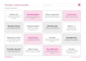 Creative Sparks worksheet
