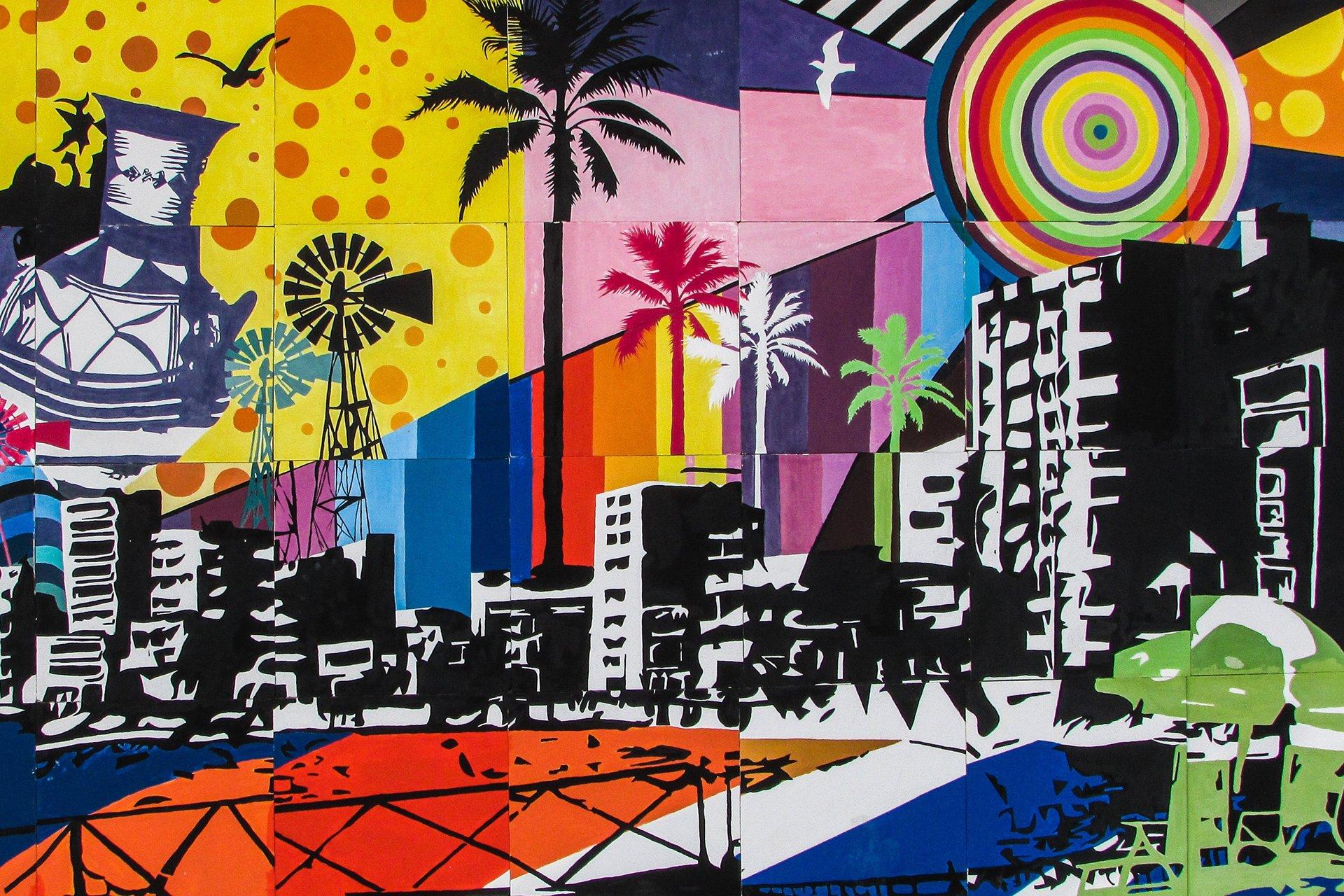 Cityscape grafiti