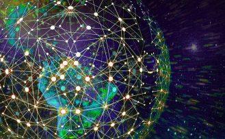 World map network illustration