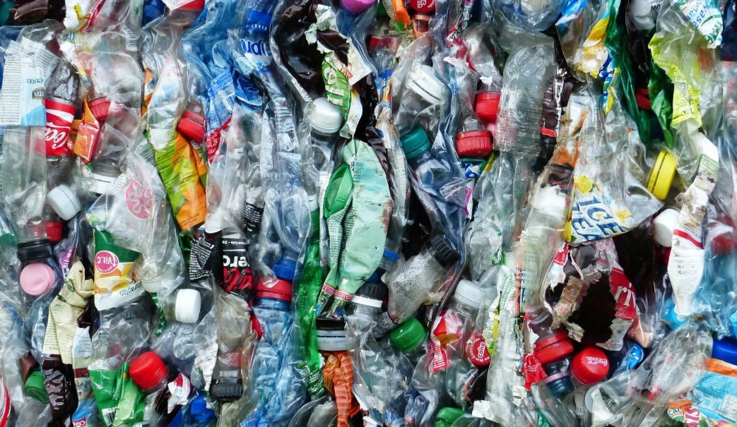 Plastic bottles waste recycling