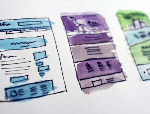 Screen designs illustration