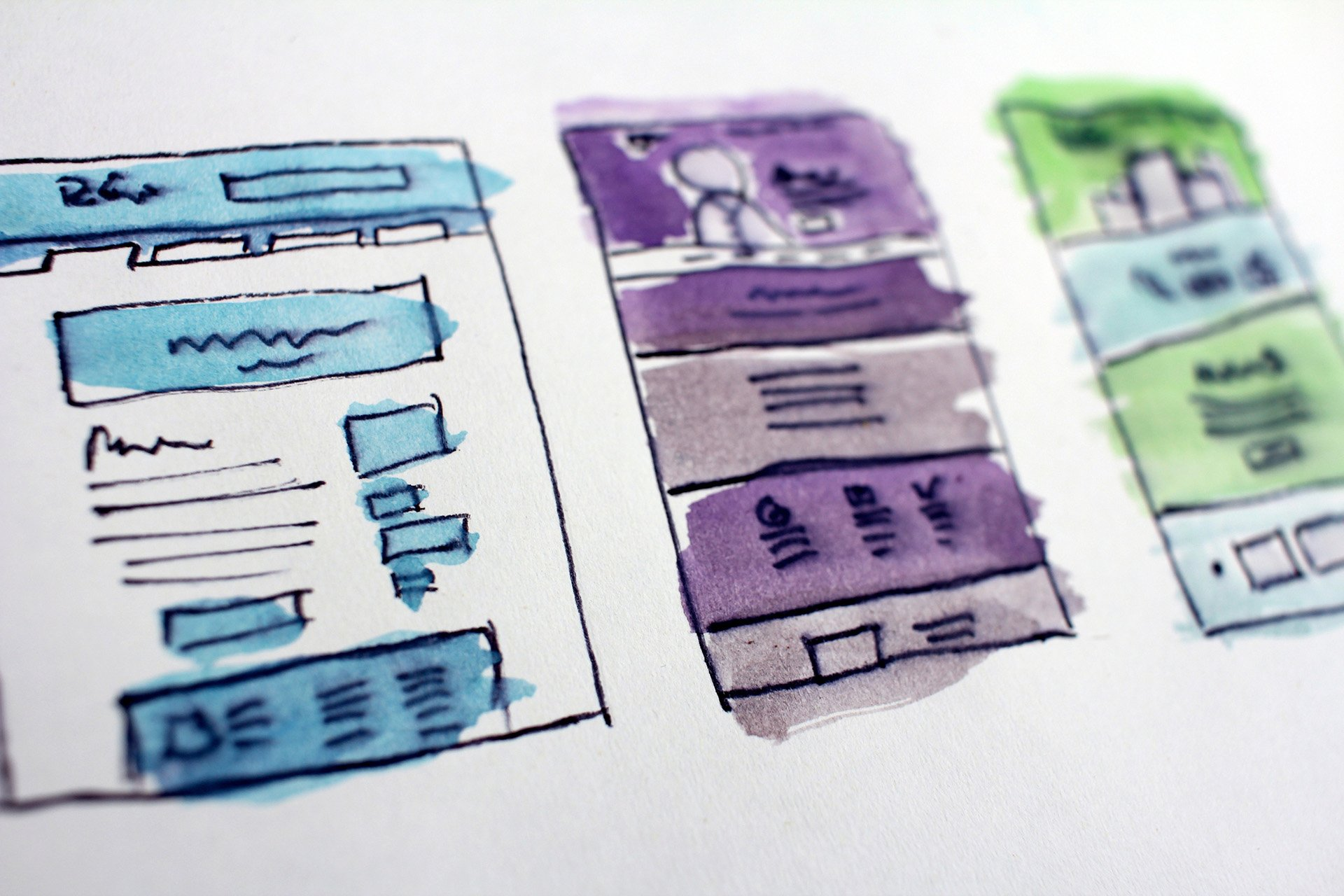 Screen designs illustration